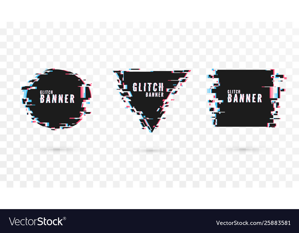 Geometric shape banner with distortion effect