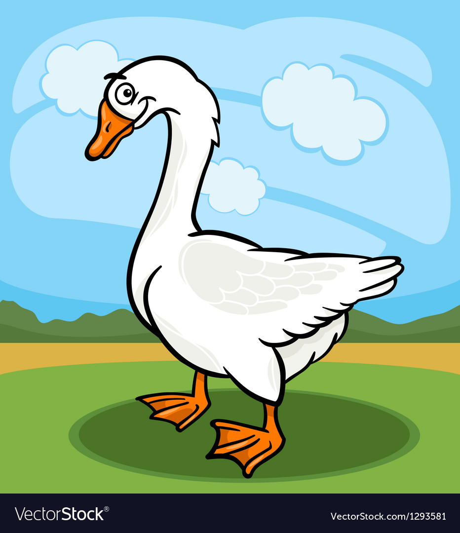 Goose bird farm animal cartoon