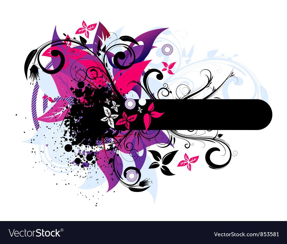 Grunge vintage floral frame
