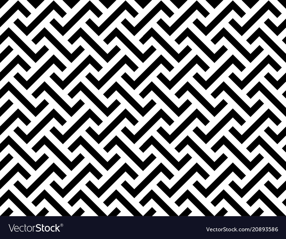 Abstract geometric seamless pattern line vector image