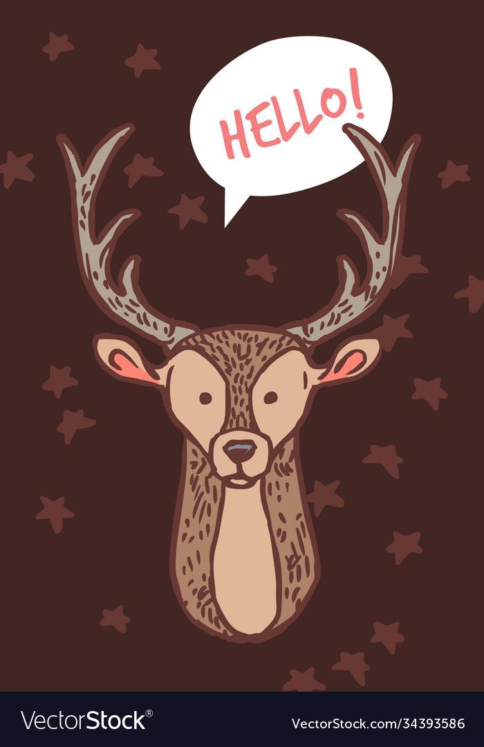 Card with cute badeer