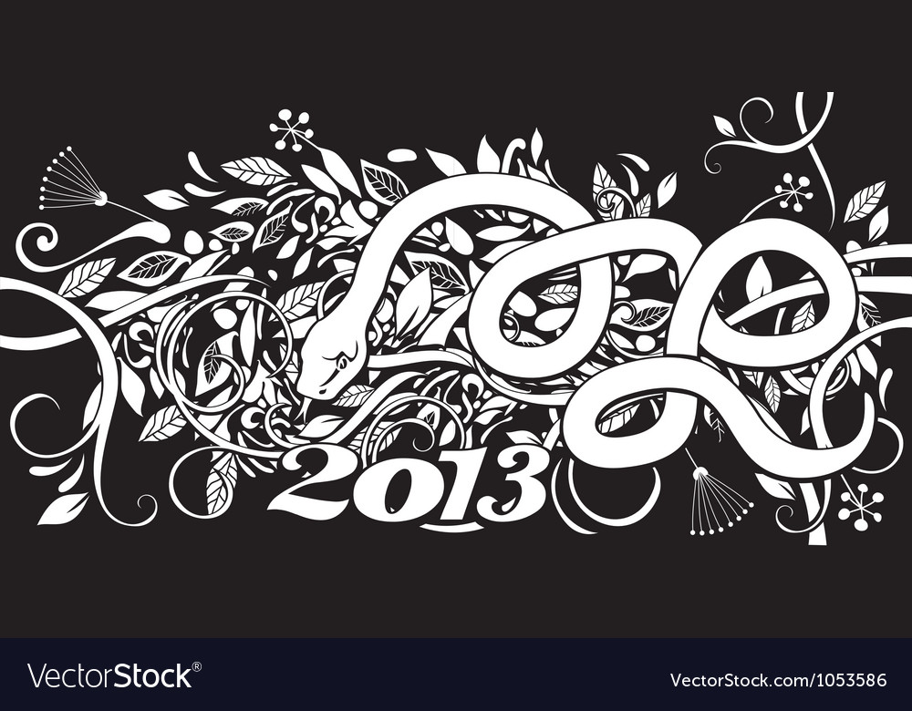 Chinese Year of the Snake vector image