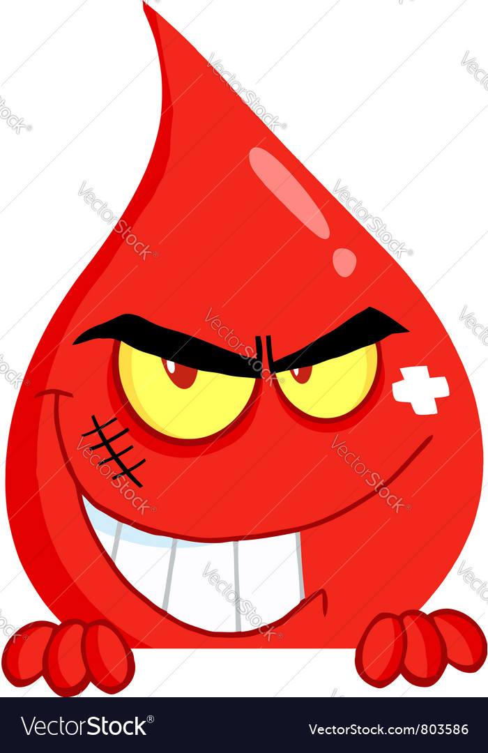 Evil Characters on Evil Blood Guy Grinning Over A Blank Sign Vector 803586 By Hittoon
