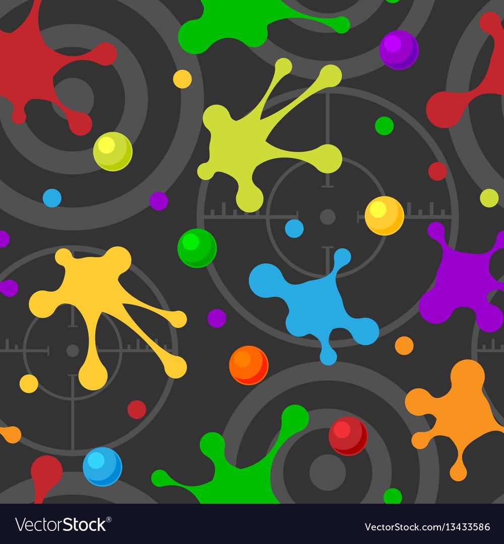 Splash seamless pattern dark colorful hand drawn