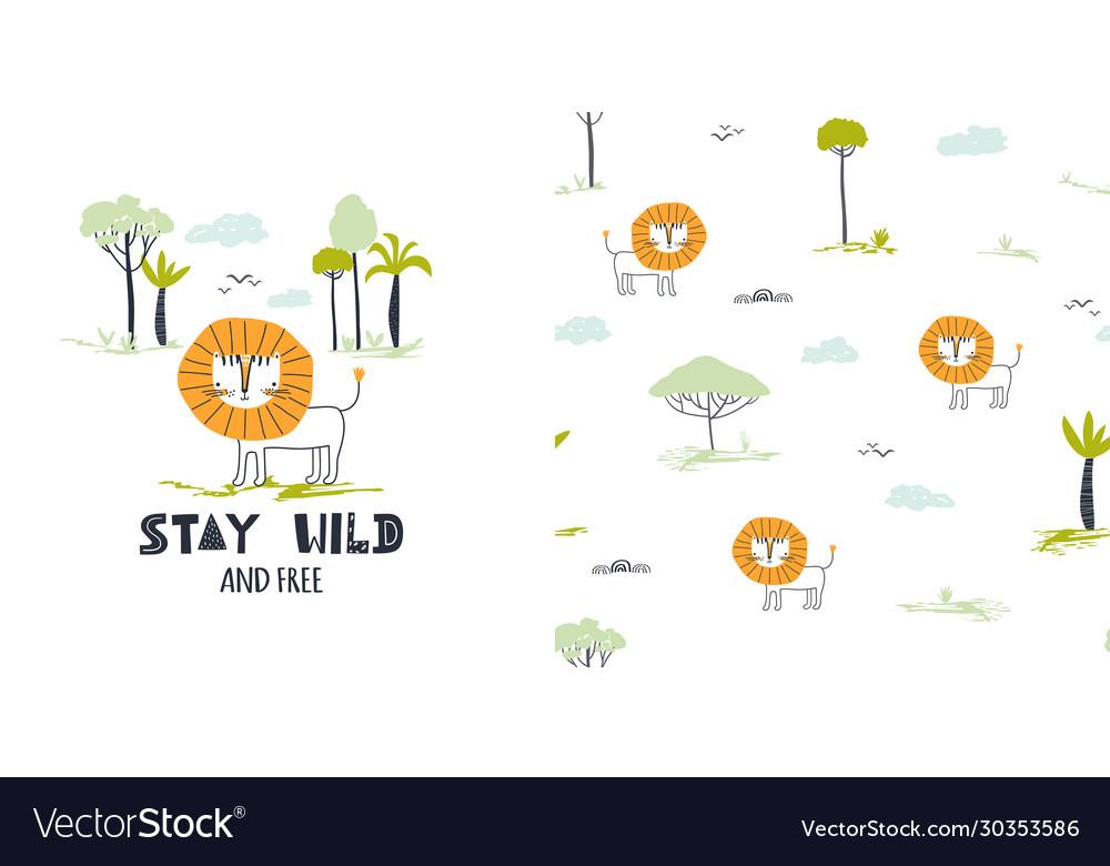 Stay wild cute little lion