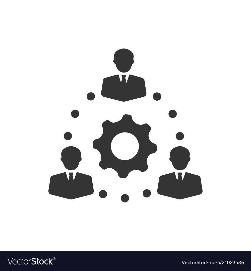 teamwork teamwork solution icon royalty free vector image