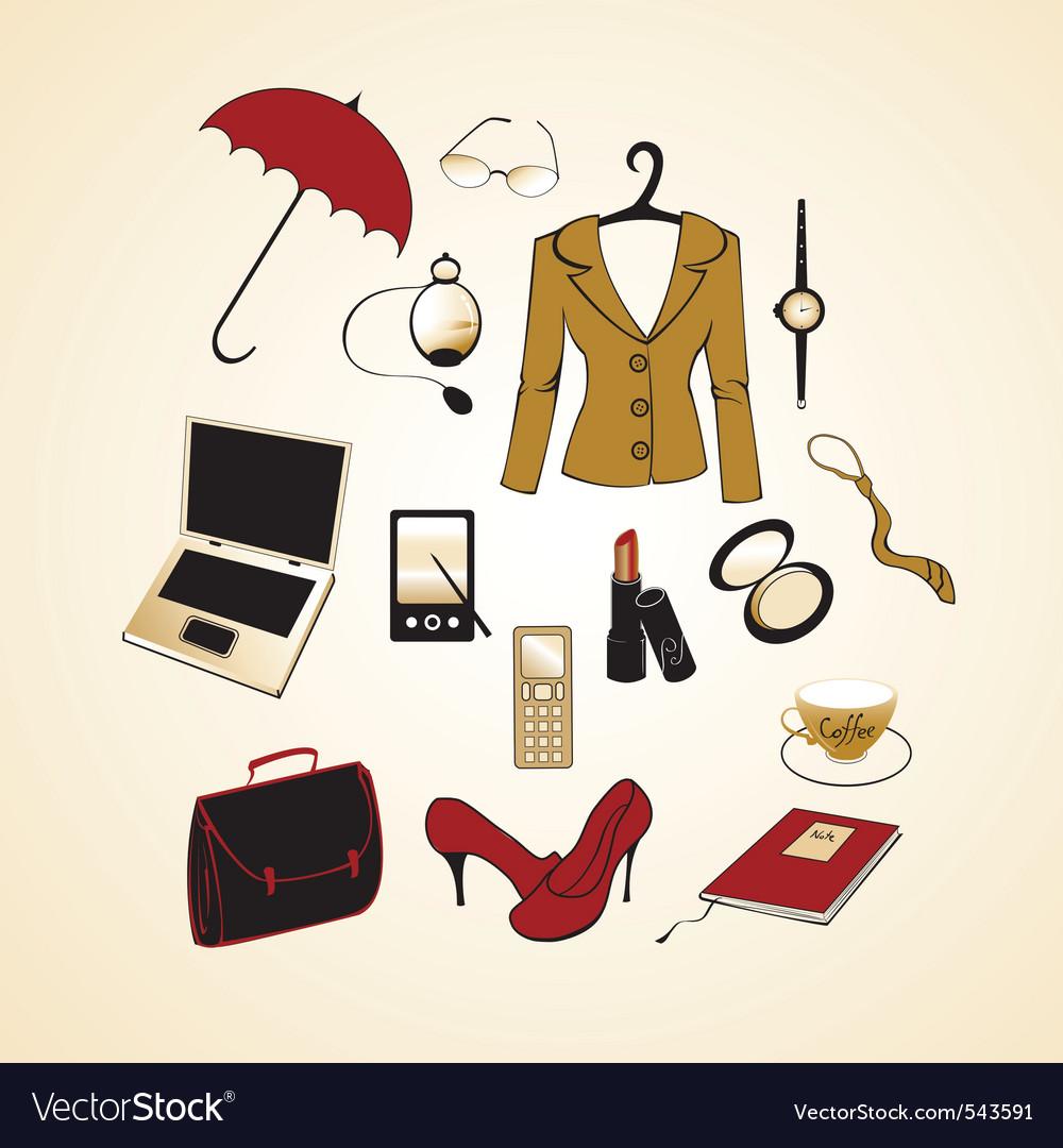 Business woman elements