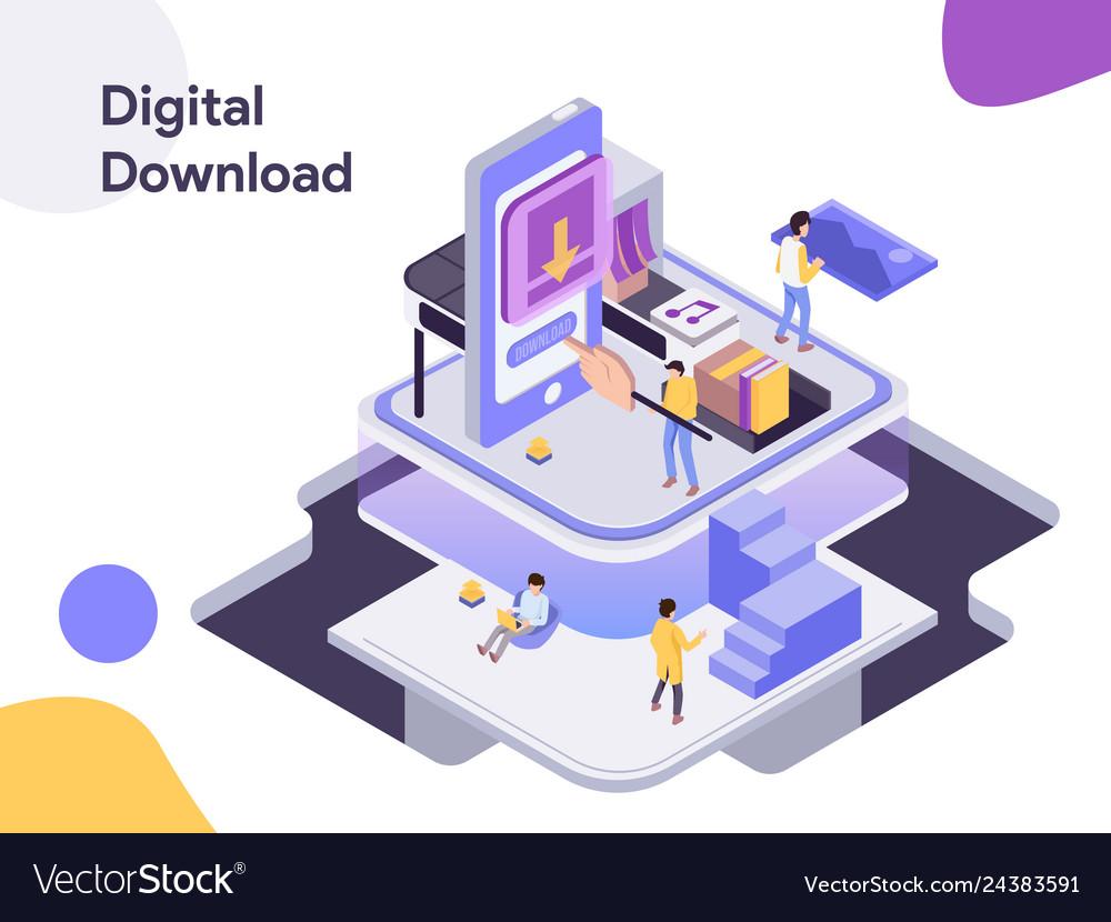Digital download isometric modern flat design