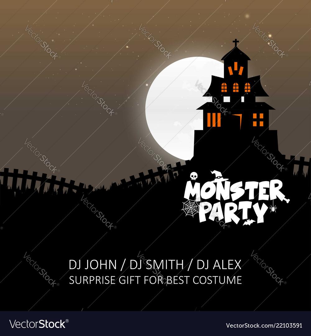 Happy Halloween Zombie Party Invitation Card