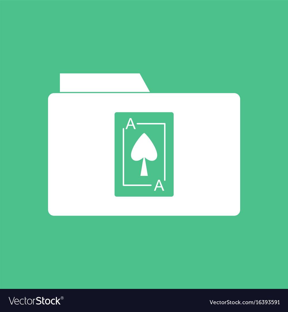 Icon playing card on folder