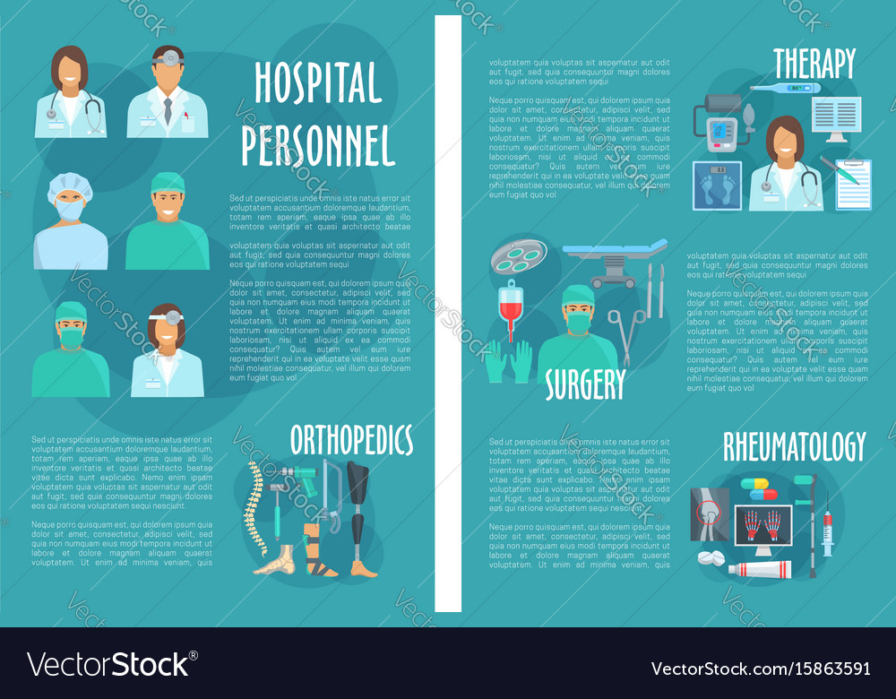 medical brochure for hospital personnel doctors vector image
