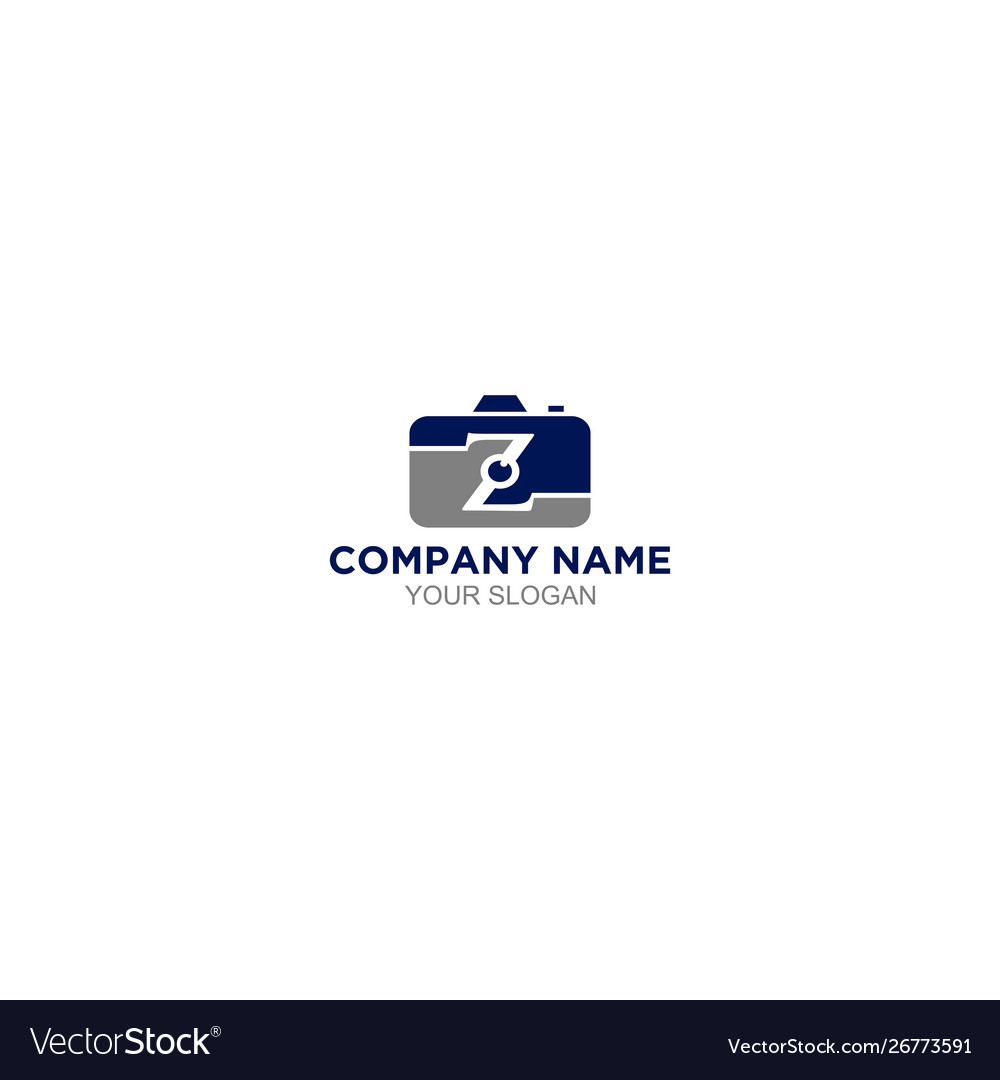 Z Photography Logo Design Royalty Free Vector Image