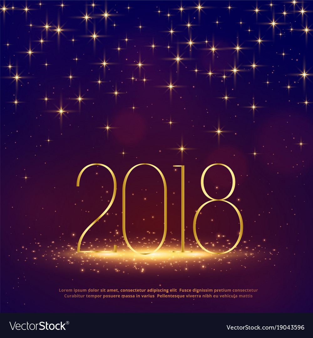 2018 glitter background with sparkles for happy