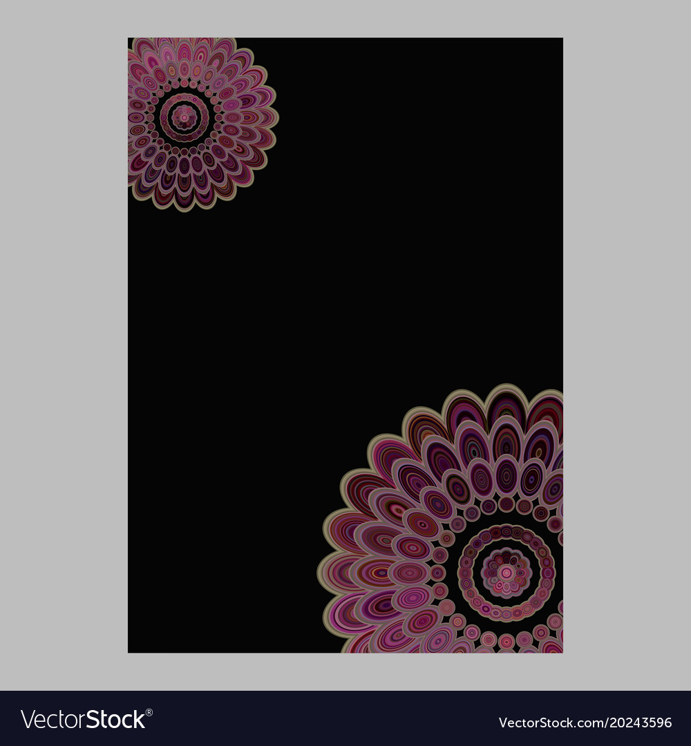 Abstract floral mandala page background - love