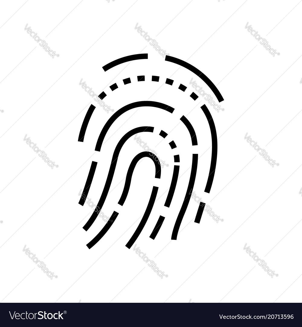 Fingerprint - line design single isolated icon