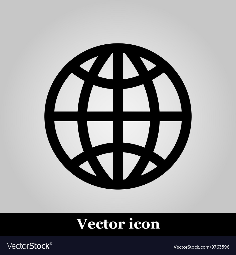 Globe icon on grey background
