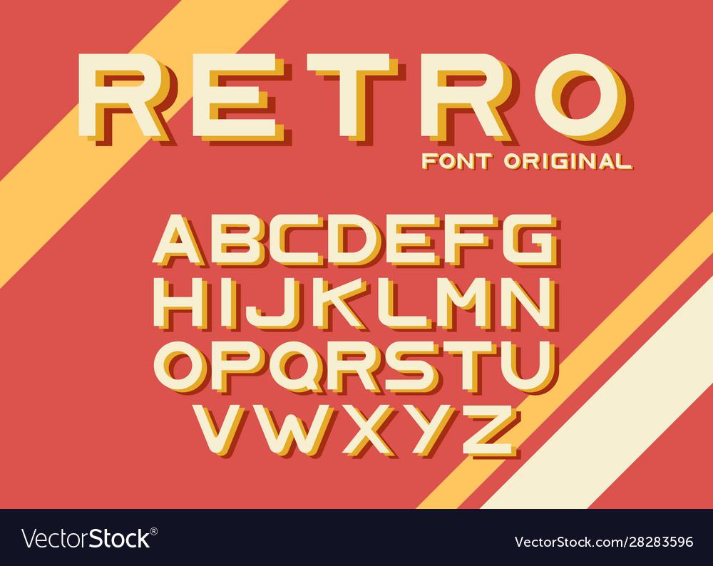 Original vintage retro font