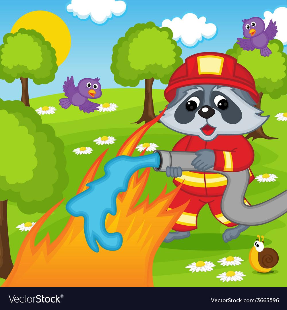 рисунок сказочные герои тушат пожар