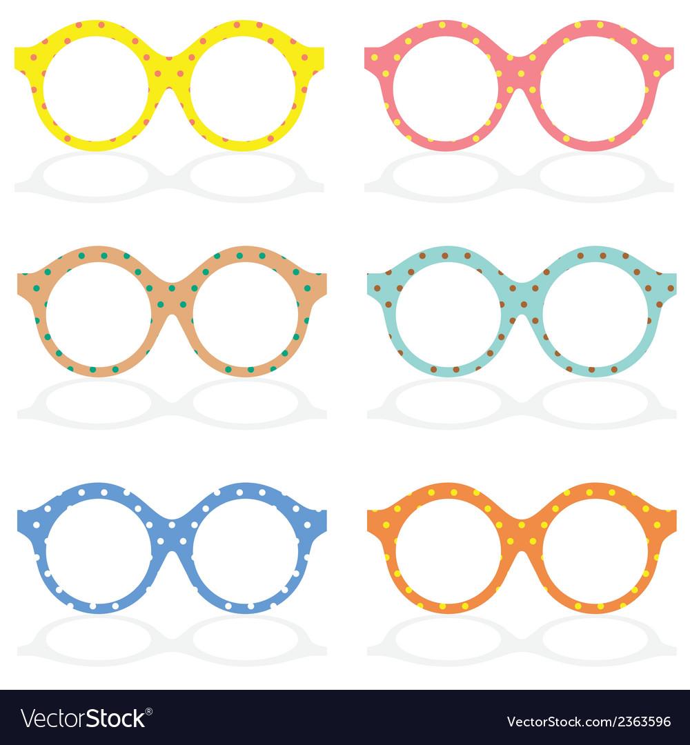 5c6d7211fe6 Set of colorful eyeglasses royalty free vector image jpg 1000x1080 Colorful  eyeglasses