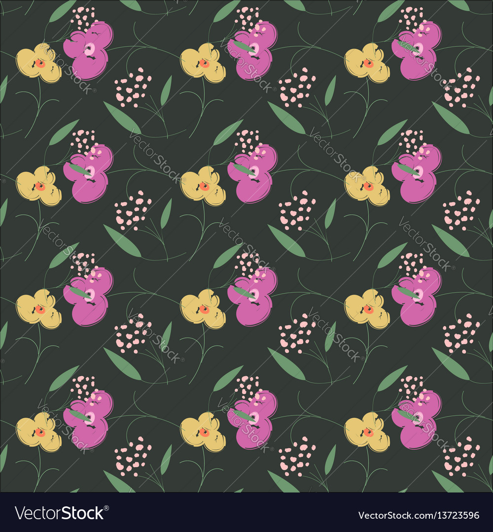Trendy seamless floral pattern in