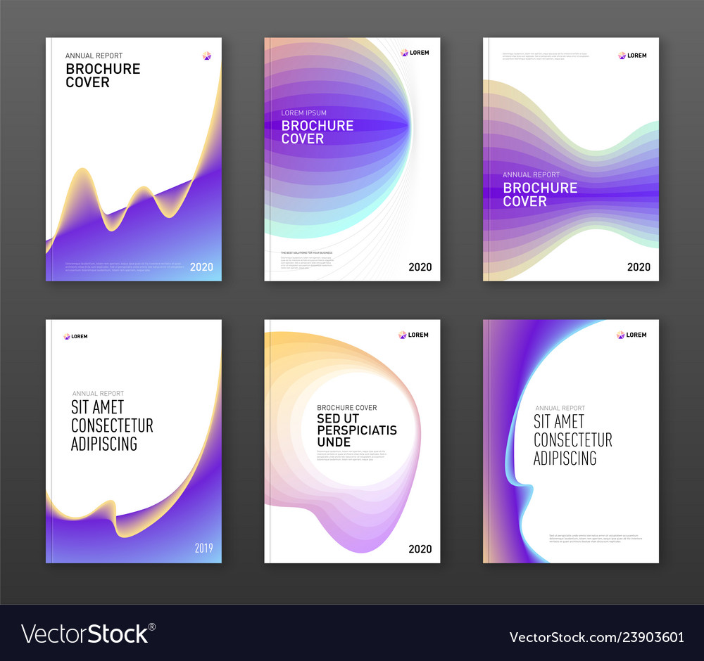 Brochure cover design templates set
