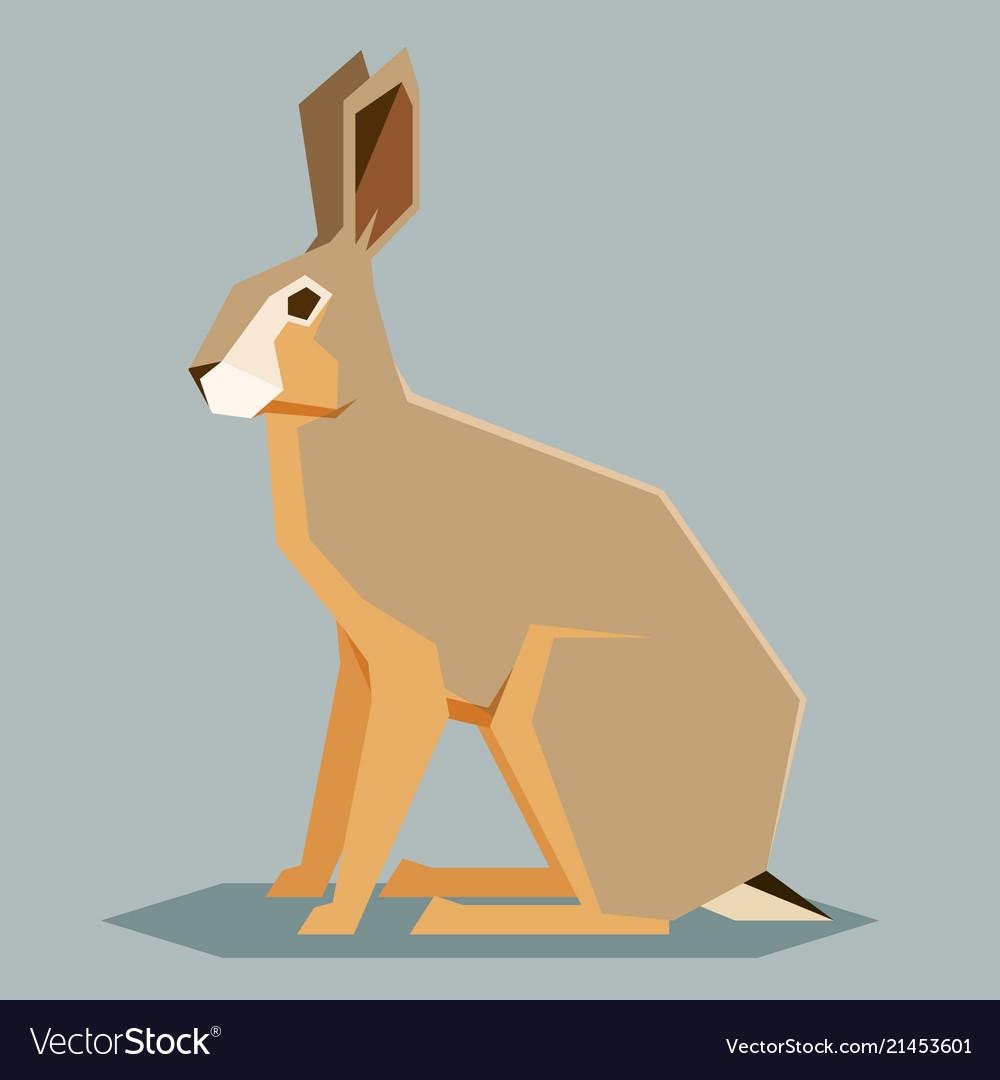 Flat geometric hare