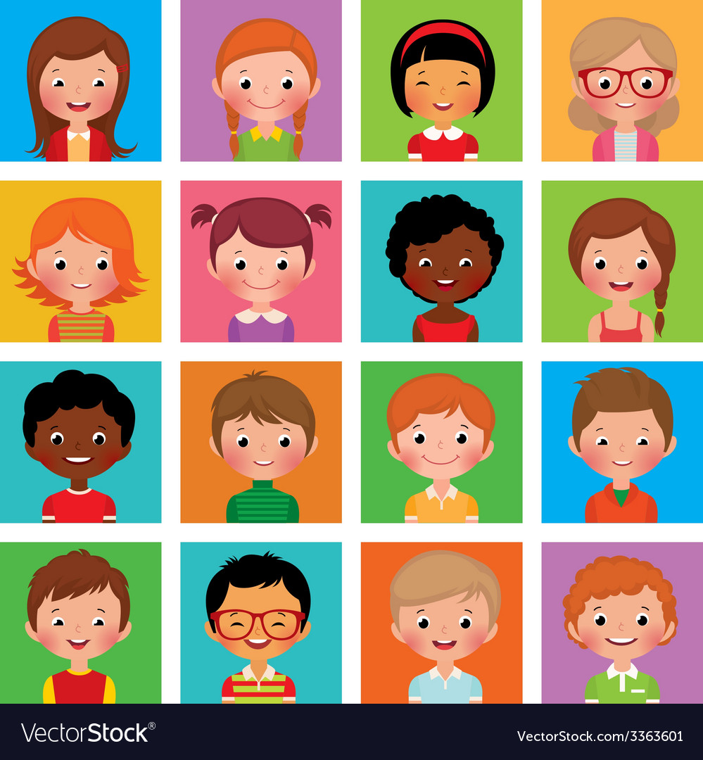 Set avatars boys and girls