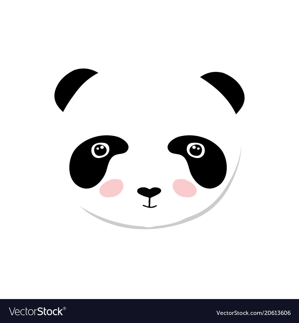 baby panda bear of cute baby royalty free vector image