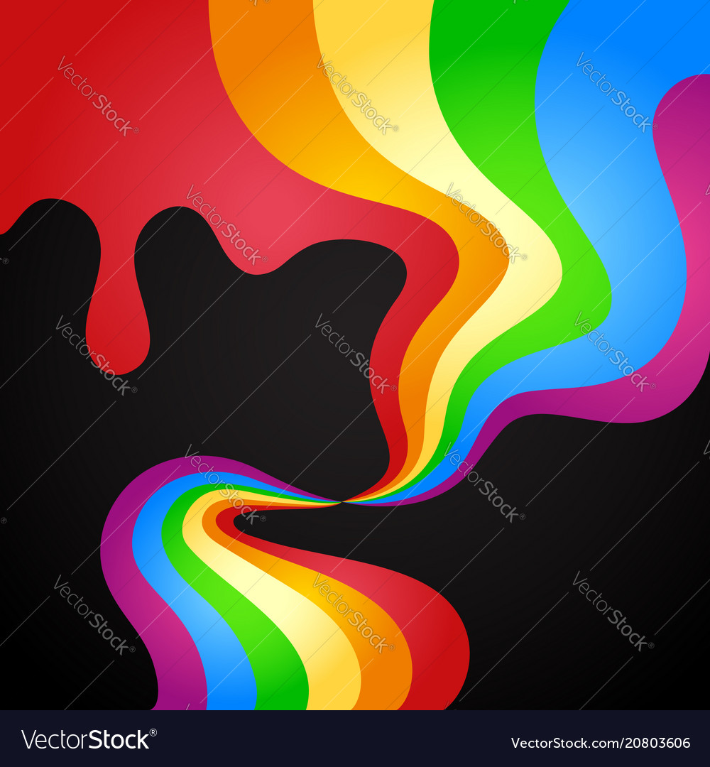 Colored paint wave abstraction vector image