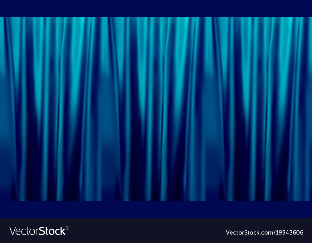 Colorful naturalistic gradient blue curtains