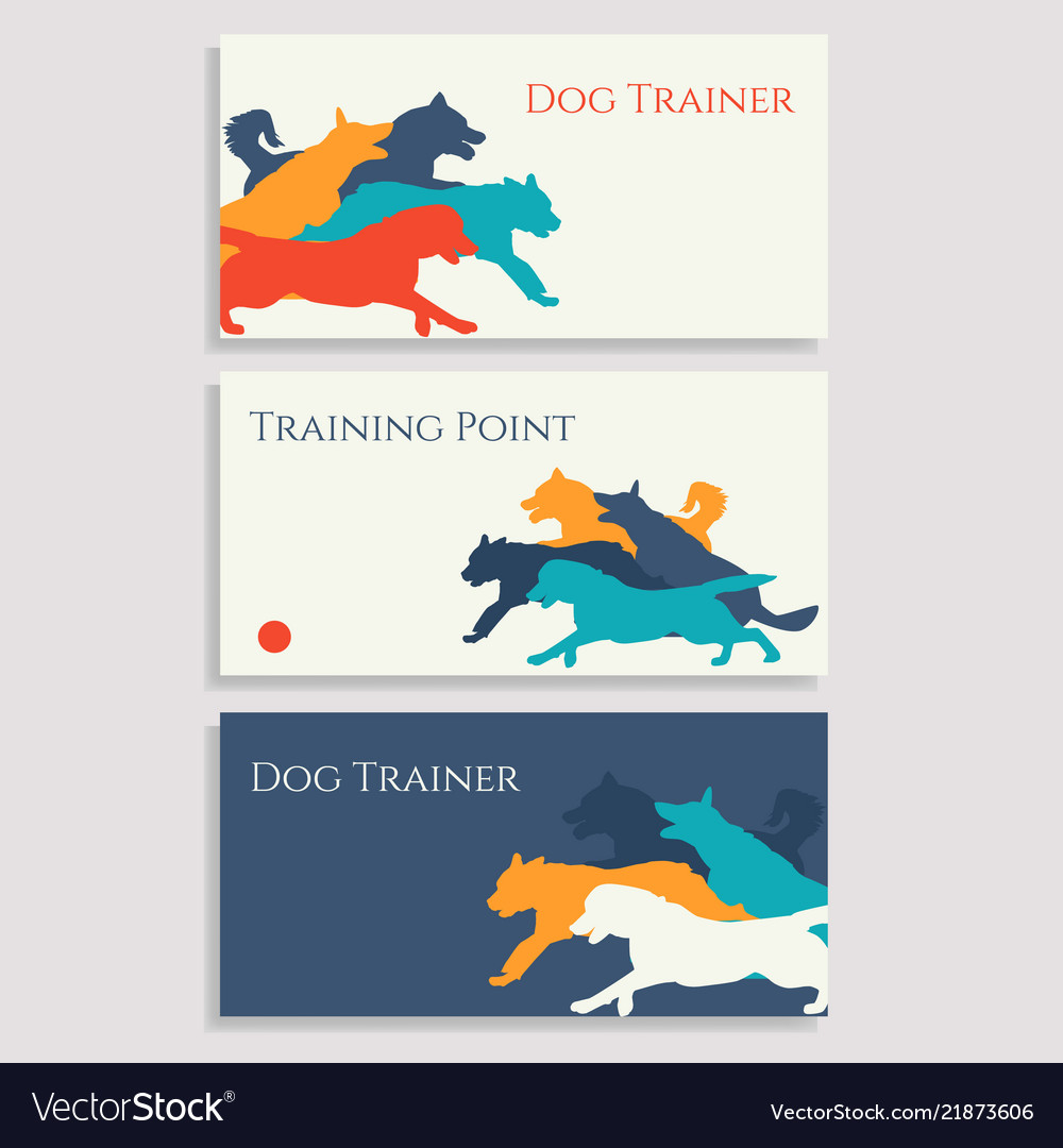 Trainer Business Cards Vector Image