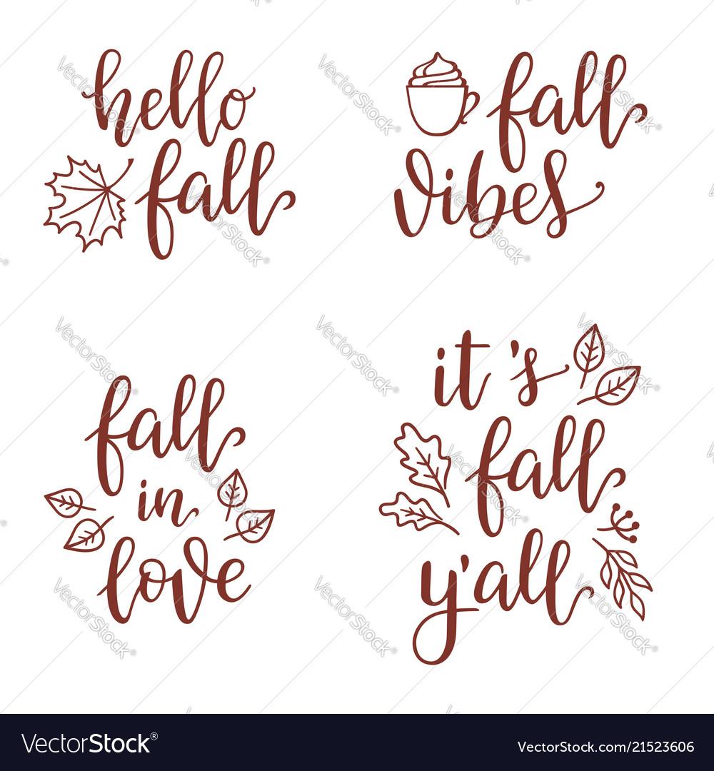 Fall calligraphy set