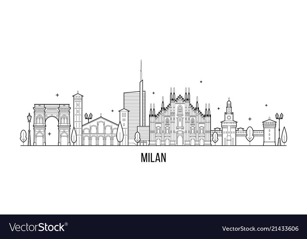 Milan skyline italy city buildings