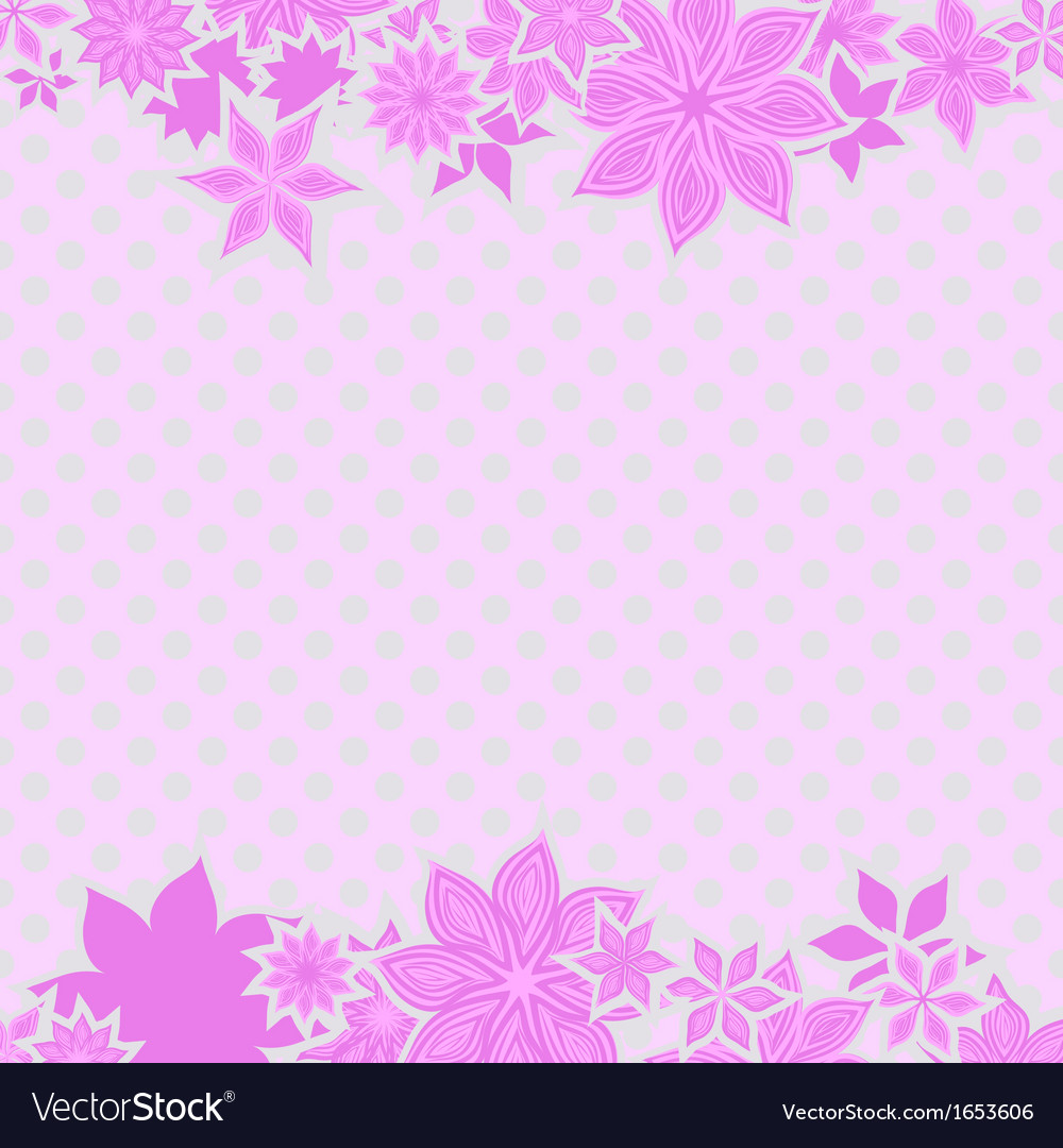 Pink borders with flowers