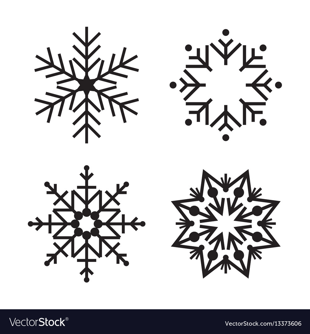 Snowflake simple icon isolated on white background