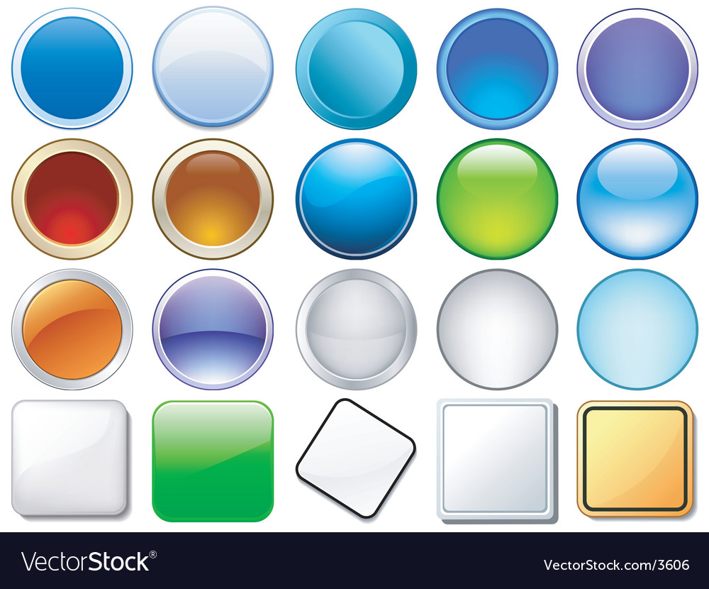 Variety of glossy icons