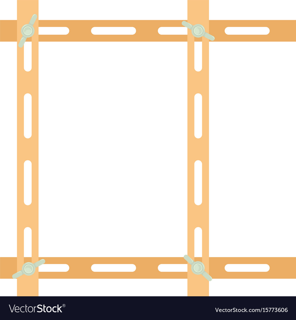 Wooden maulstick icon cartoon style vector image