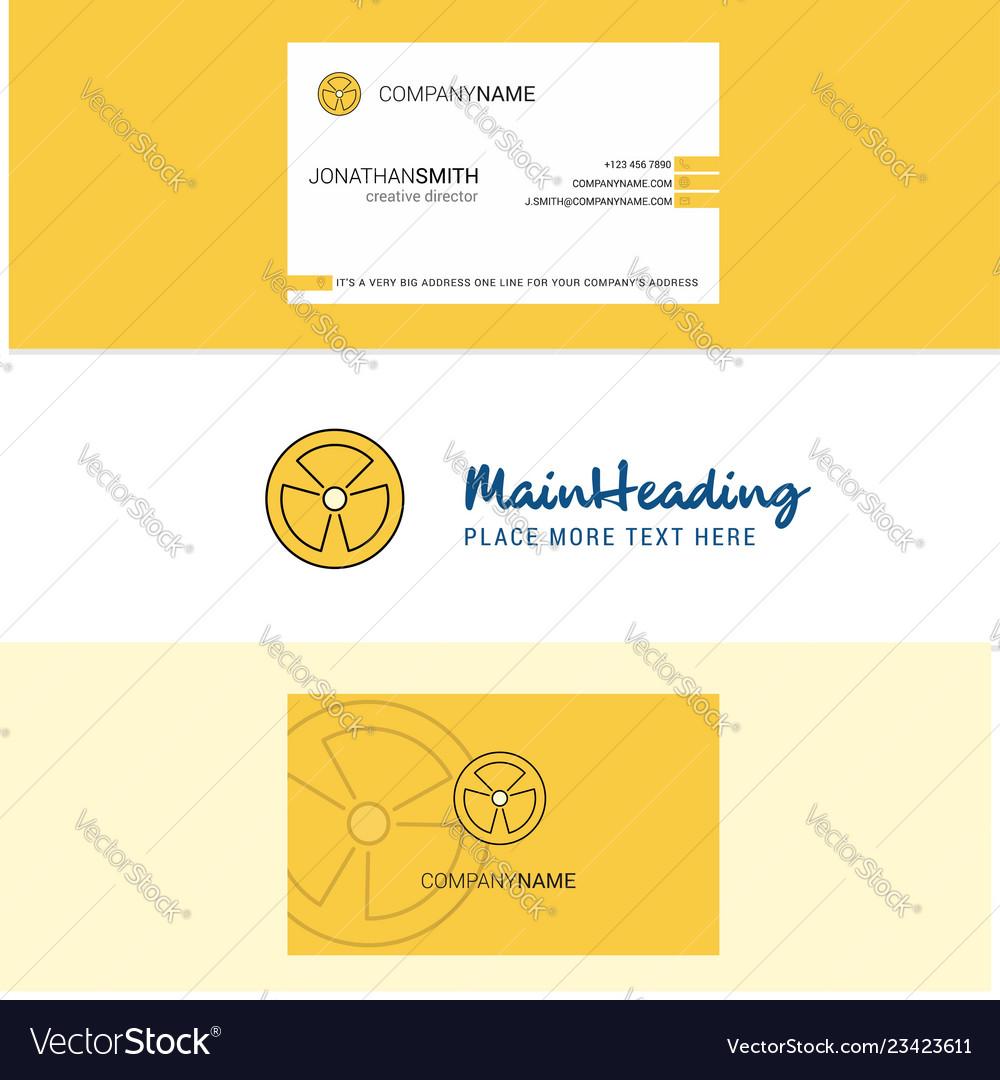 Beautiful fan logo and business card vertical