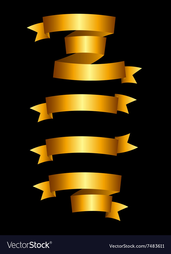 Beautiful Gold Ribbon Label Set