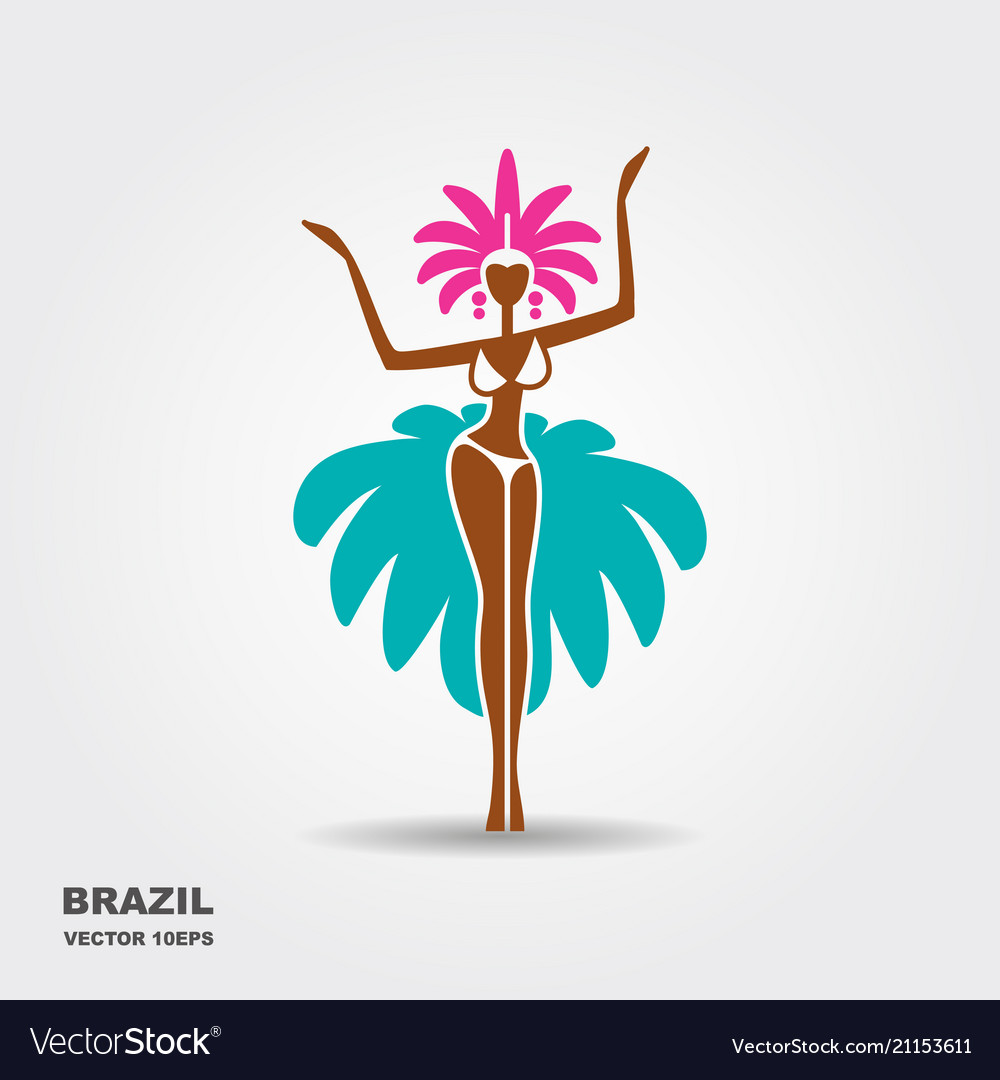 Brazil carnival dancer icon