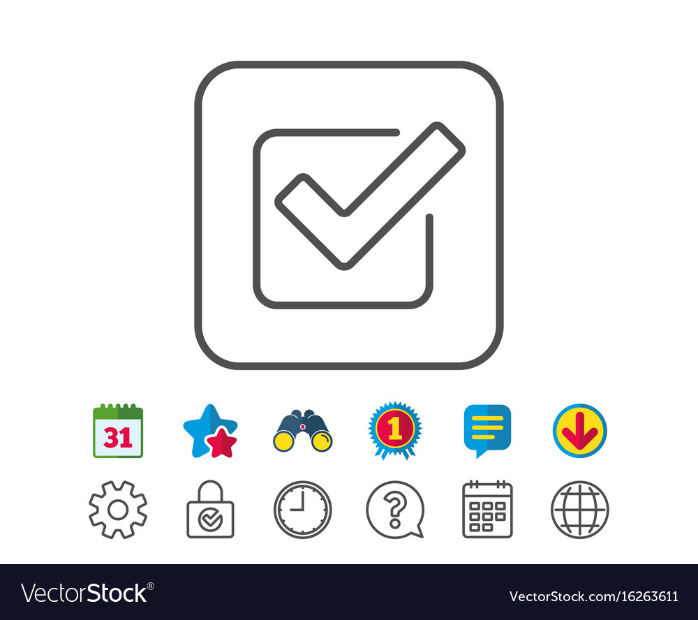 Check line icon approved tick sign