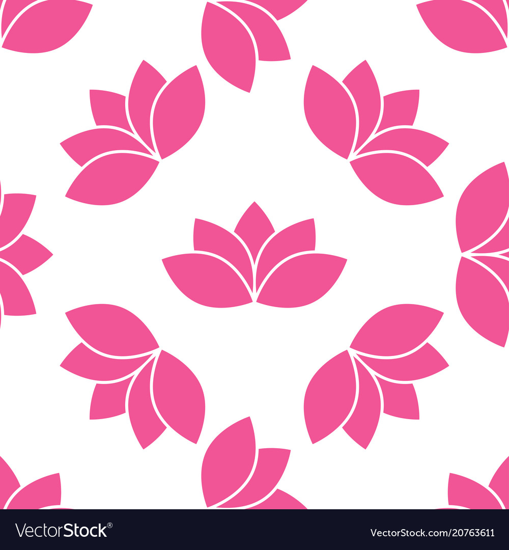 Lotus flower seamless pattern vector image
