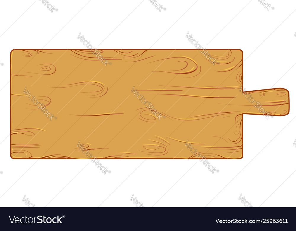Meter wood cutting board isolated on white
