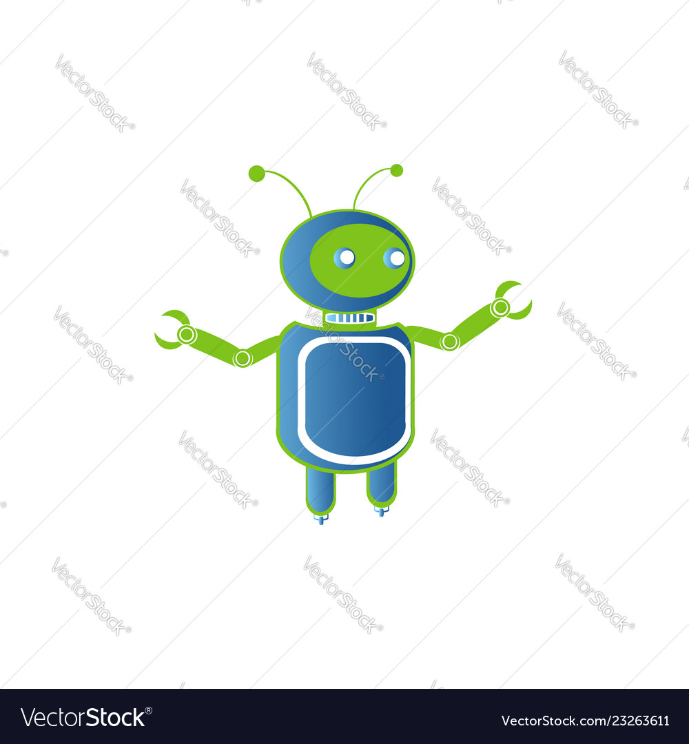Robot logo artificial intelligence badge
