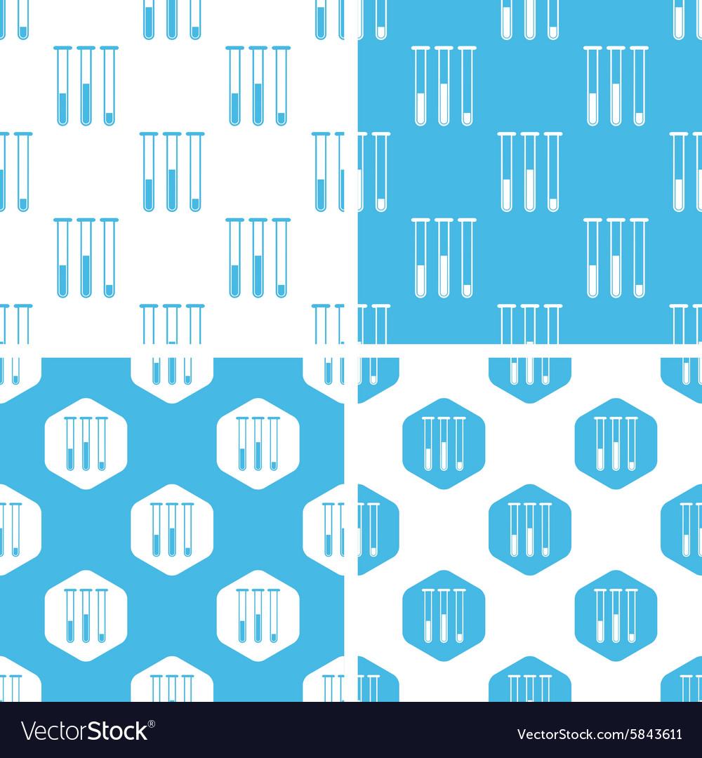 Test-tubes patterns set
