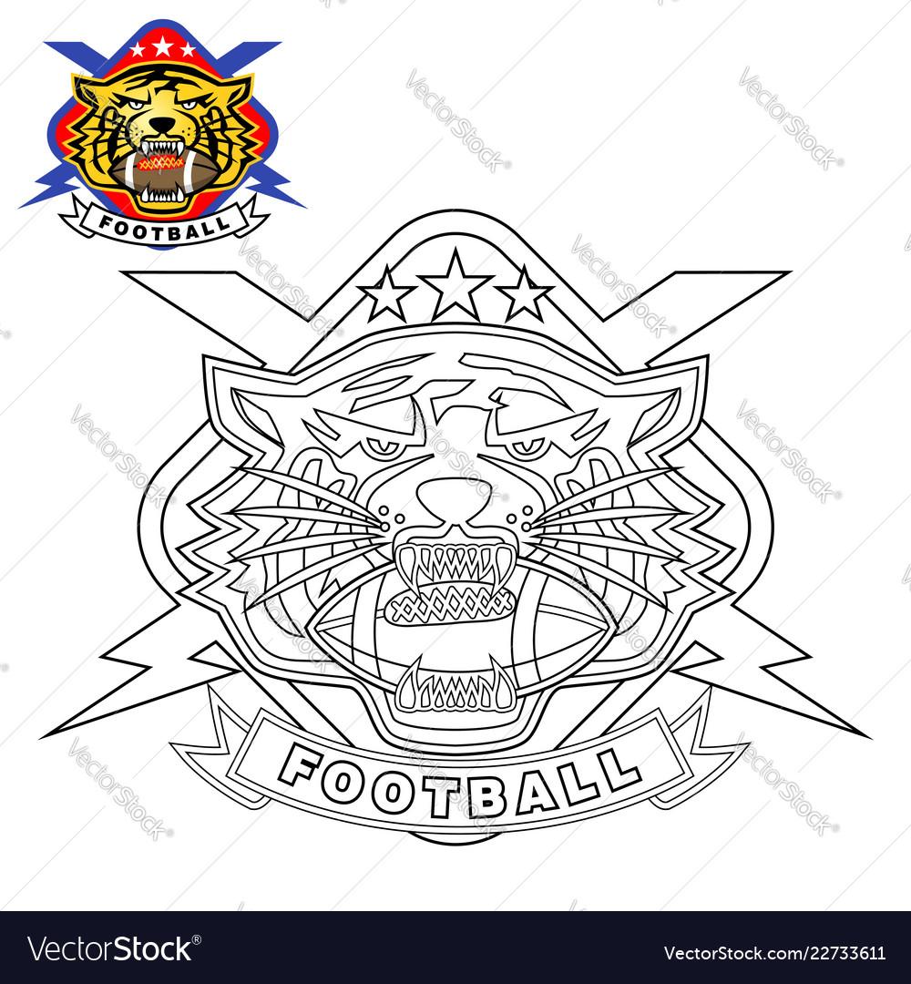 tiger head logo with lightning vector