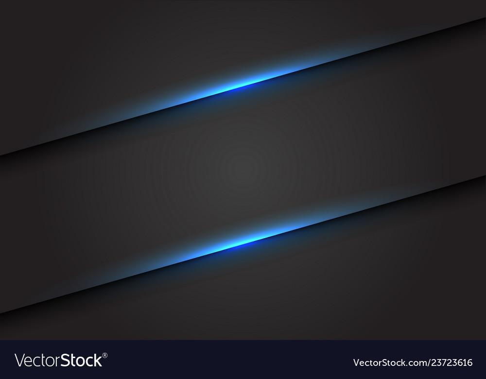 Abstract blue light line slash on dark grey