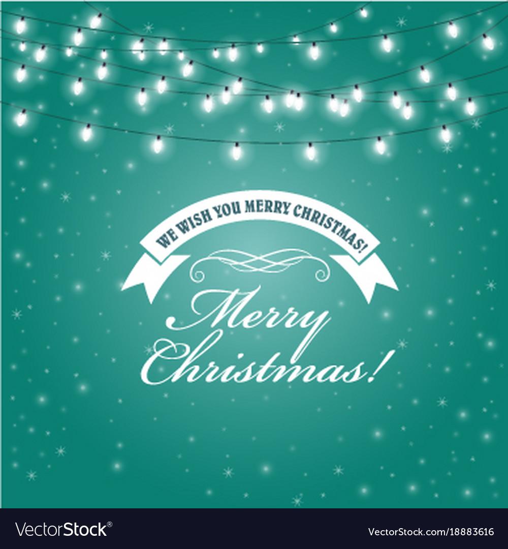Christmas lights frame - festive lights garlands