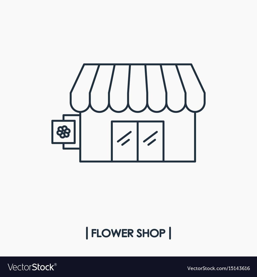 Flower shop icon vector image
