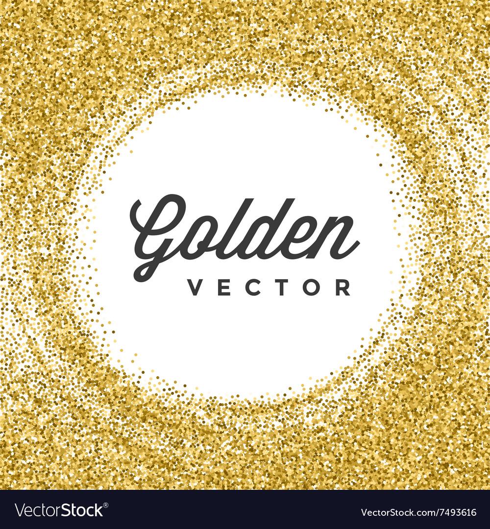 Gold Glitter Sparkles Bright Confetti Black
